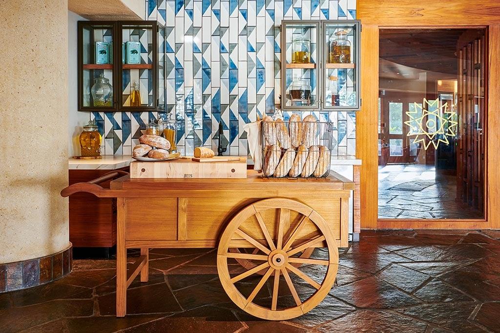Bread cart.